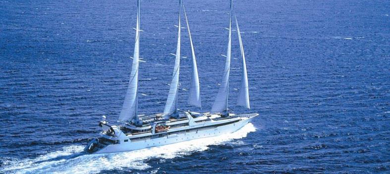 Ponant's Le Ponant , a 64-passenger luxury sailing yacht. Photo: Ponant