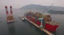 Prelude FLNG Taking Shape – Bird's-Eye-View of Largest Floating Structure Ever Built