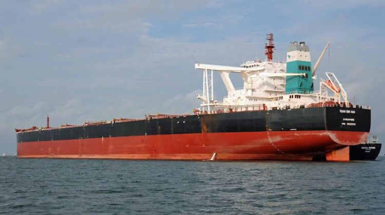 The MV YUAN SHI HAI, one of four Valemax ships sold to China Ore Shipping in May. Photo: Ian Edwards