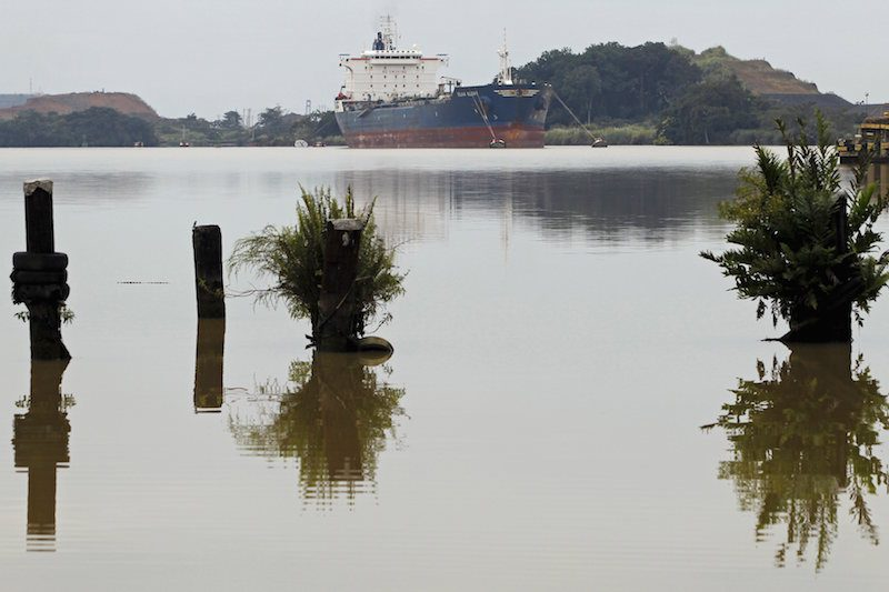 A cargo ship is seen on the Panama Canal in Panama City August 10, 2015. REUTERS/Carlos Jasso