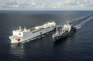 Ship Photos of the Day – USNS Mercy Replenishment at Sea
