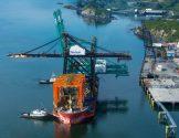 Ship Photo of the Day – Alaska's Biggest Crane Arrives in Kodiak