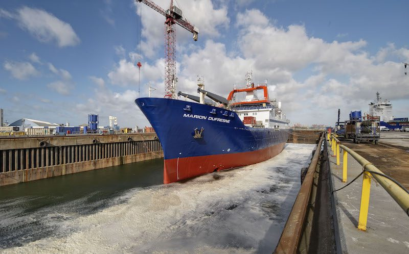 Marion Dufresne dock - Damen Shiprepair Dunkerque