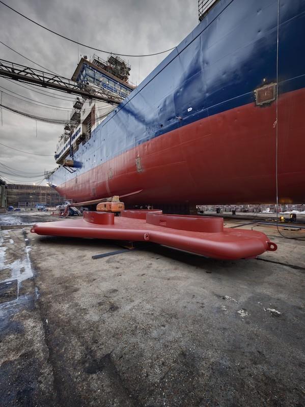Marion Dufresne sonar system - Damen Shiprepair Dunkerque
