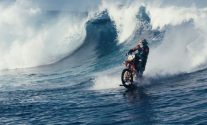 Amazing Video: Guy 'Surfs' Wave on Dirt Bike
