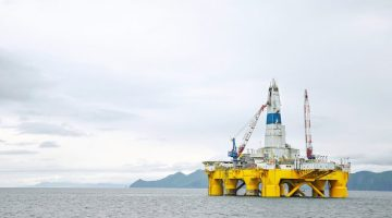 Shell's Polar Pioneer drilling rig. Photo: Shell Alaska
