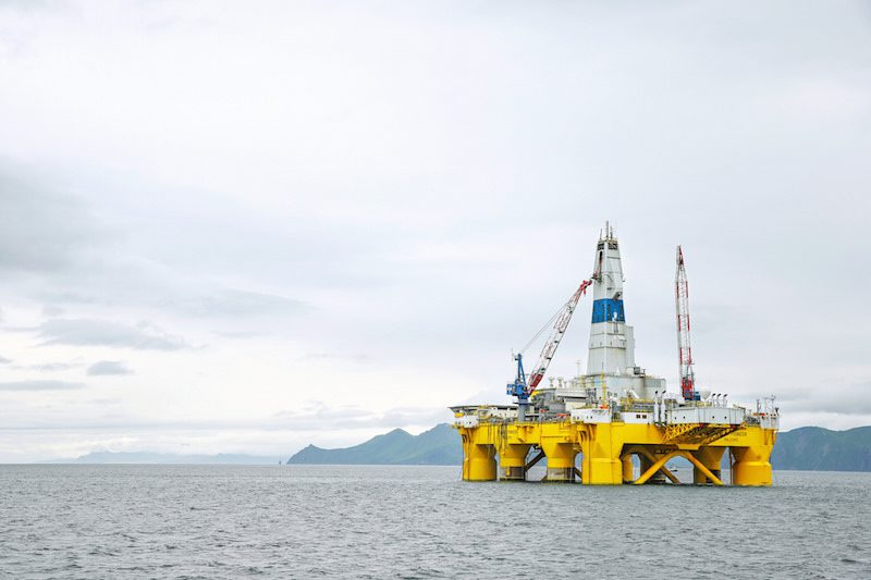 Shell's previously-contracted Polar Pioneer drilling rig that it used to drill exploratory well in the Chuc. Photo: Shell Alaska