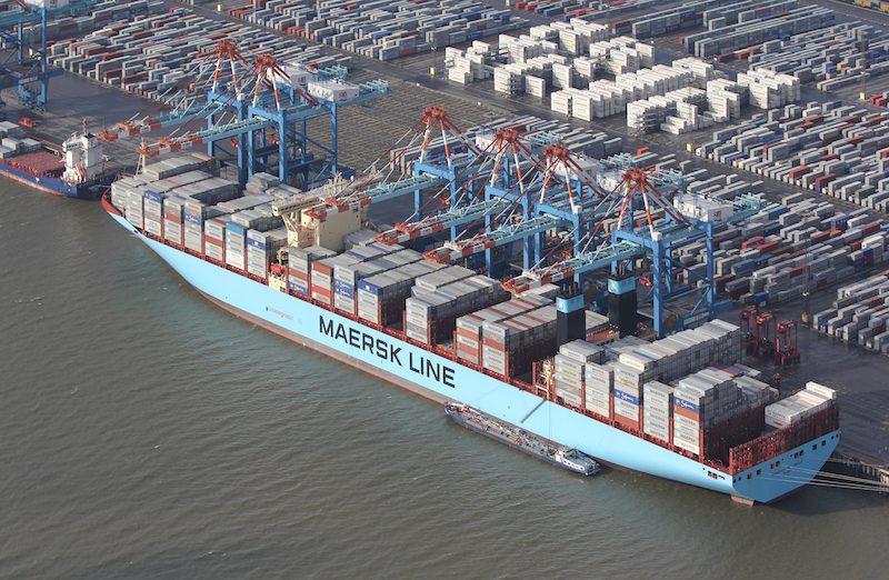 The 18,000+ TEU MV Maersk Mc-Kinney Moller. Photo: Wikimedia Commons