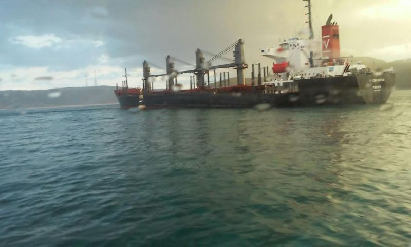 Bulk carrier El Condor Pasa aground in the Bosphorus Strait, September 9, 2015. Photo: Turkish General Directorate of Coastal Safety