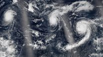NASA Satellites Capture Three Hurricanes Marching Across Pacific