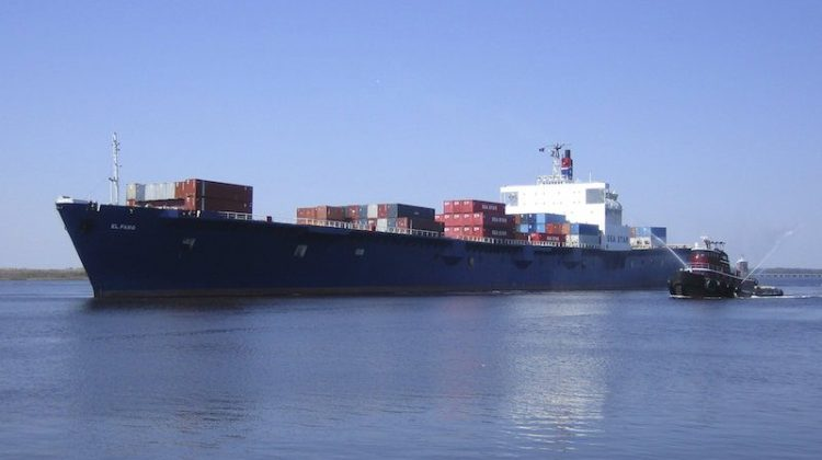 The El Faro is shown in this undated handout photo provided by Tote Maritime in Jacksonville, Florida, October 2, 2015. Reuters/Tote Maritime