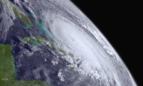 Hurricane Joaquin is pictured off the east coast of the United States
