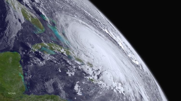 Hurricane Joaquin is pictured off the east coast of the United States in this handout photo provided by NOAA, taken October 1, 2015. Search-and-rescue teams on Sunday located debris appearing to belong to the cargo ship El Faro, which went missing in the eye of Hurricane Joaquin with 33 mostly American crew members aboard more than three days ago, the U.S. Coast Guard and the ship's owner said. Picture taken October 1, 2015. REUTERS/NOAA/Handout via Reuters ATTENTION EDITORS - FOR EDITORIAL USE ONLY. NOT FOR SALE FOR MARKETING OR ADVERTISING CAMPAIGNS. THIS IMAGE HAS BEEN SUPPLIED BY A THIRD PARTY. IT IS DISTRIBUTED, EXACTLY AS RECEIVED BY REUTERS, AS A SERVICE TO CLIENTS