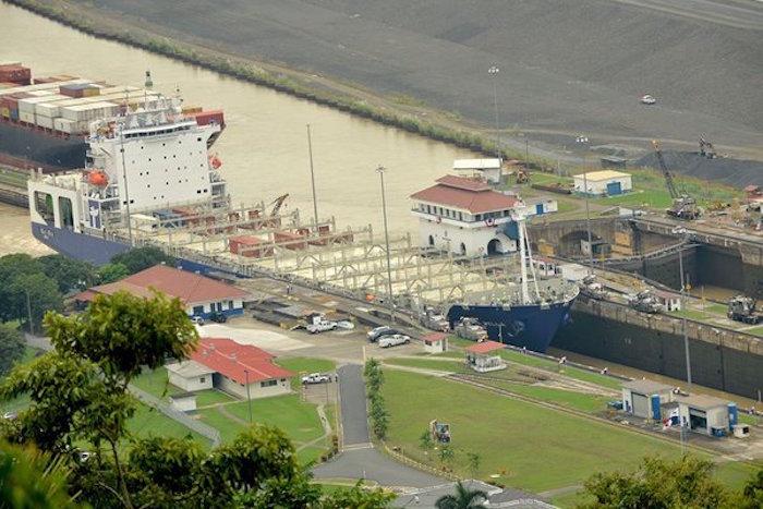 MV Isla Bella passes through the Panama Canal. Photo: Panama Canal Authority