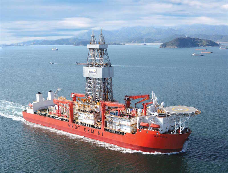 West Gemini drillship. Photo credit: Seadrill