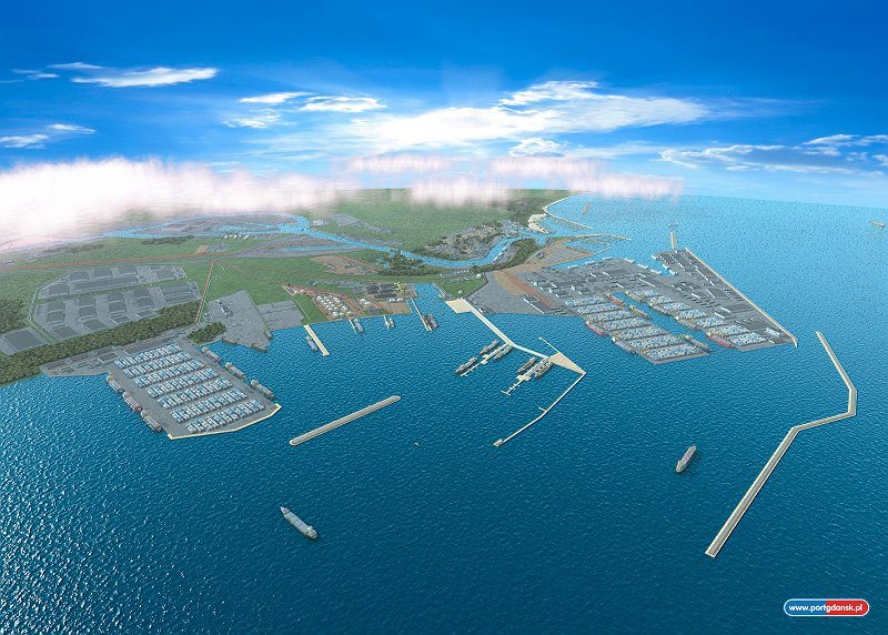 A proposed rendition for the Outer Port in Gdansk.