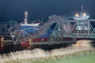 Cargo Ship Takes Out Railway Bridge in Germany