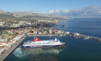 WATCH: This Drone Video of a Greek Island Ferry Docking is a Thing of Beauty