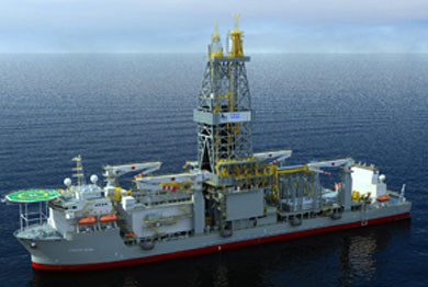 An illustration of the Atwood Archer drillship. Image credit: Atwood Oceanics