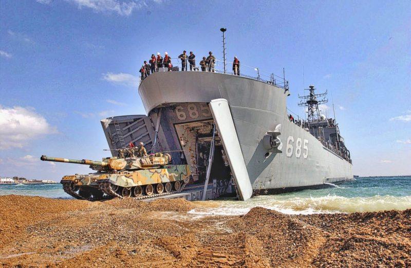 South Korean Amphibious Landing Ship