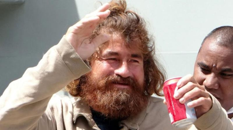Jose Salvador Alvarenga pictured upon his arrival in the Marshall Islands in February 2015.