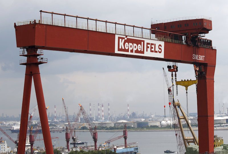 A view of a Keppel Corporation shipyard in Singapore January 19, 2016. REUTERS/Edgar Su