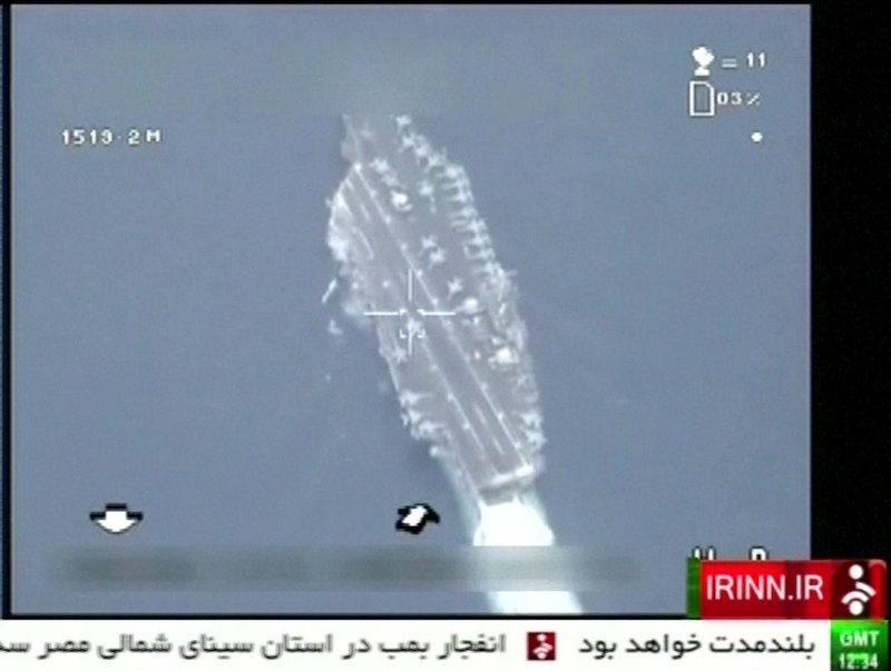 iran flies drone over u.s. aircraft carrier