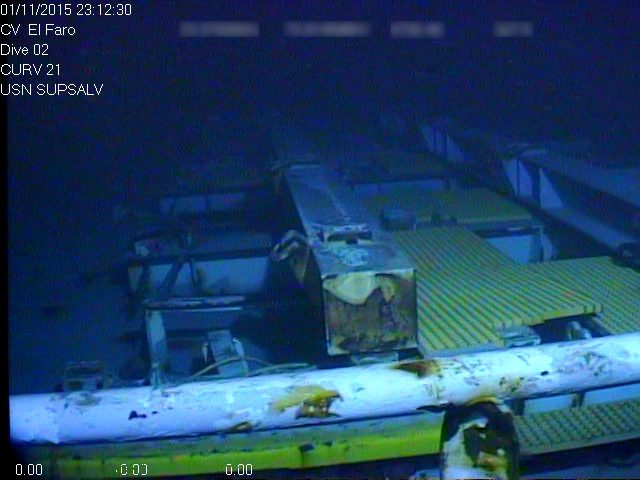 Close up of empty main deck of the El Faro. Photo: NTSB