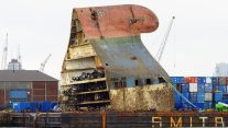 VIDEO: Baltic Ace Wreck Cut Up and Removed from North Sea