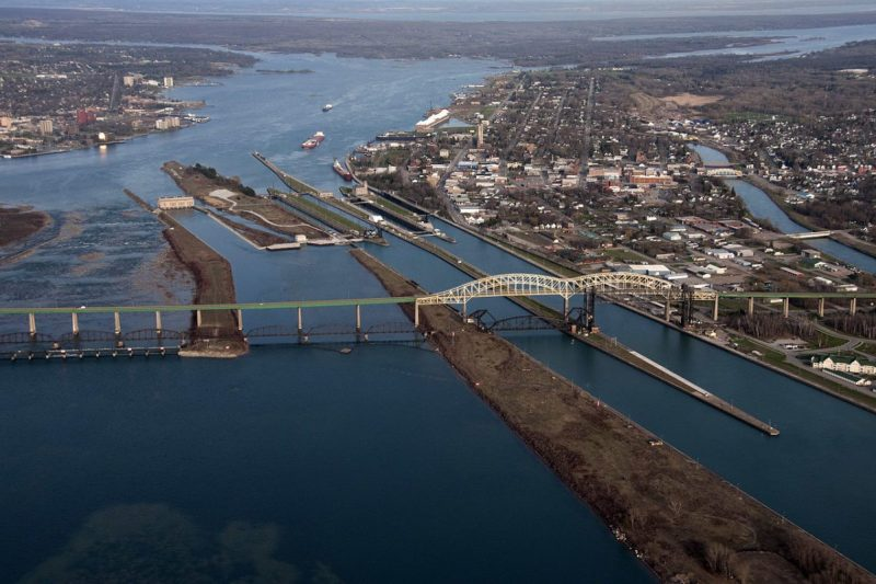 Soo Locks and International Bridge / Photo Credit: Commons Wikipedia