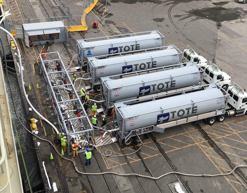 TOTE Maritime Pueto Rico LNG Bunker Trucks