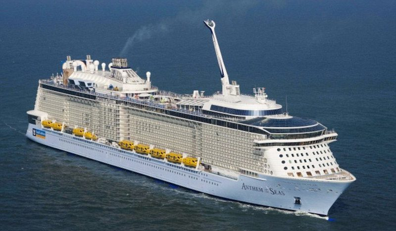 Royal Caribbean's Anthem of the Seas in fairer weather. Photo credit: Royal Caribbean
