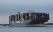 CSCL Indian Ocean Could Be Stuck For Days on Elbe River – PHOTOS