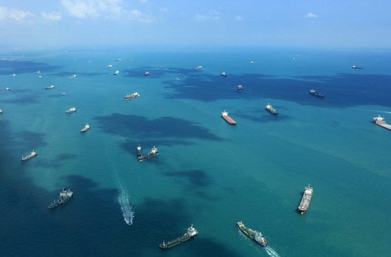 Ships at anchor off Singapore. File photo: Shutterstock/Rasti Sedlak