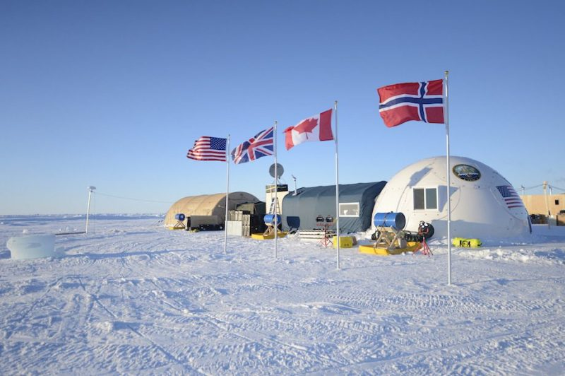 Ice Camp Sargo, located in the Arctic Circle, serves as the main stage for Ice Exercise (ICEX) 2016 and will house more than 200 participants from four nations over the course of the exercise. U.S. Navy Photo