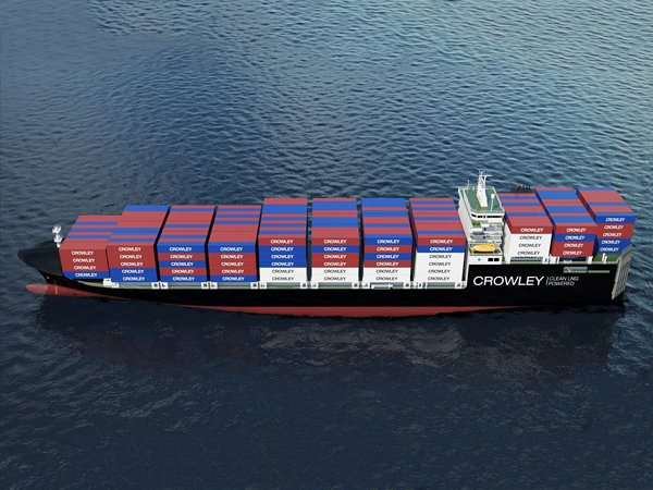 An illustration of Crowley's Commitment-class vessels. Image credit: Crowley Maritime Corp.