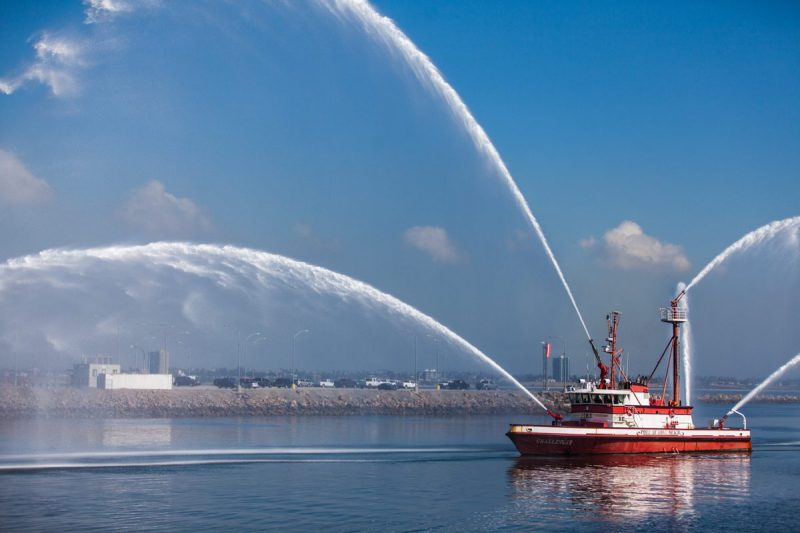 Photo of the Long Beach Fireboat Challenger by Andrew Lombardi  ©2016