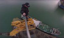 WATCH: Daredevil Climbs Sketchy Old Crane at Southampton Docks