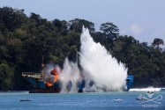 PHOTOS: Indonesia Blows Up Notorious Poaching Vessel 'Victory'