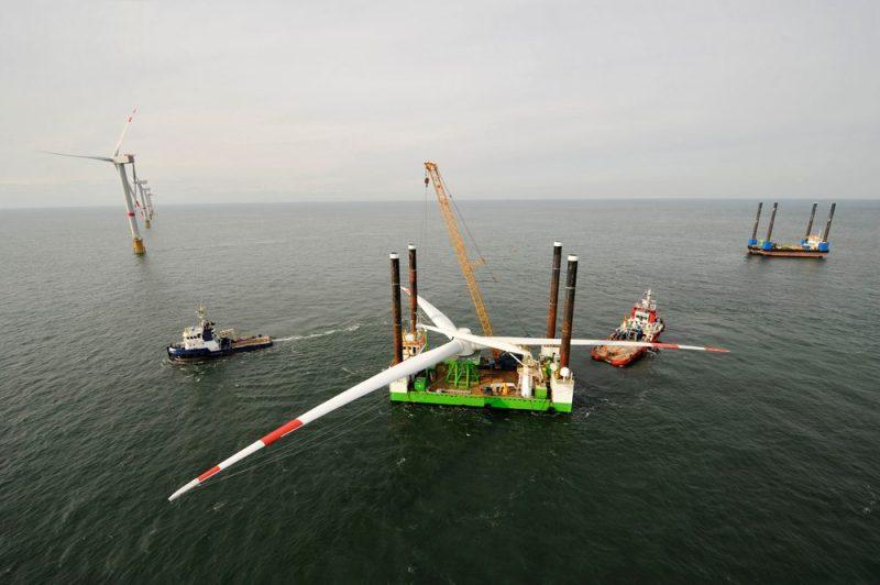 offshore wind farm installation