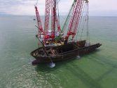 MV Flinterstar Bow Lifted from North Sea Off Belgium