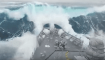 WATCH: Navy Ship Takes Huge Wave Over Bow