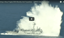 Watch: Decommissioned Navy Ship Gets Bombarded with Missiles And Torpedoes in Live Fire Sinking Exercise