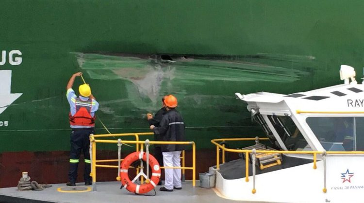 Containership Damaged After Hitting Wall in Panama Canal's New Locks