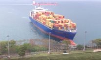 That Time a Huge Containership Ran Straight Into a Hong Kong Football Field
