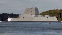 The U.S. Navy's Largest, Most Expensive, and Most Advanced Destroyer Ever Leaves Shipyard
