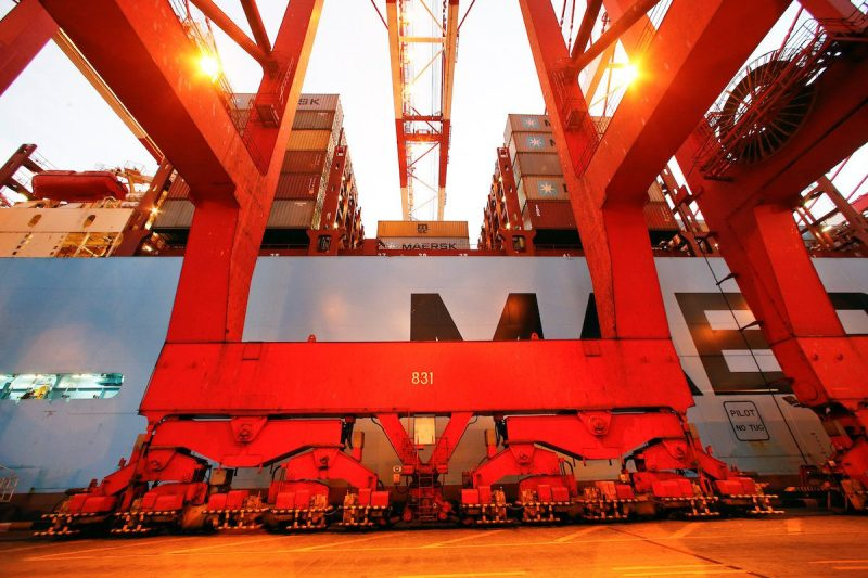 The Maersk's Triple-E giant container ship Maersk Majestic, one of the world's largest container ships, is seen at the Yangshan Deep Water Port, part of the Shanghai Free Trade Zone, in Shanghai, China September 24, 2016. Picture taken September 24, 2016. REUTERS/Aly Song