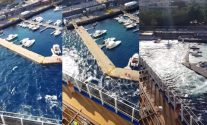 VIDEO: New View of Carnival Vista Prop Wash Destroying Italian Marina