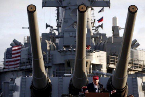 Donald Trump aboard Navy Battleship USS IOWA