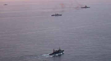 Britain Watches as Russian Warships Sail Past Coast for Mediterranean